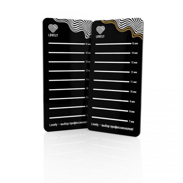 Планшет для цветных ресниц Lovely Black Silver - изображение 2