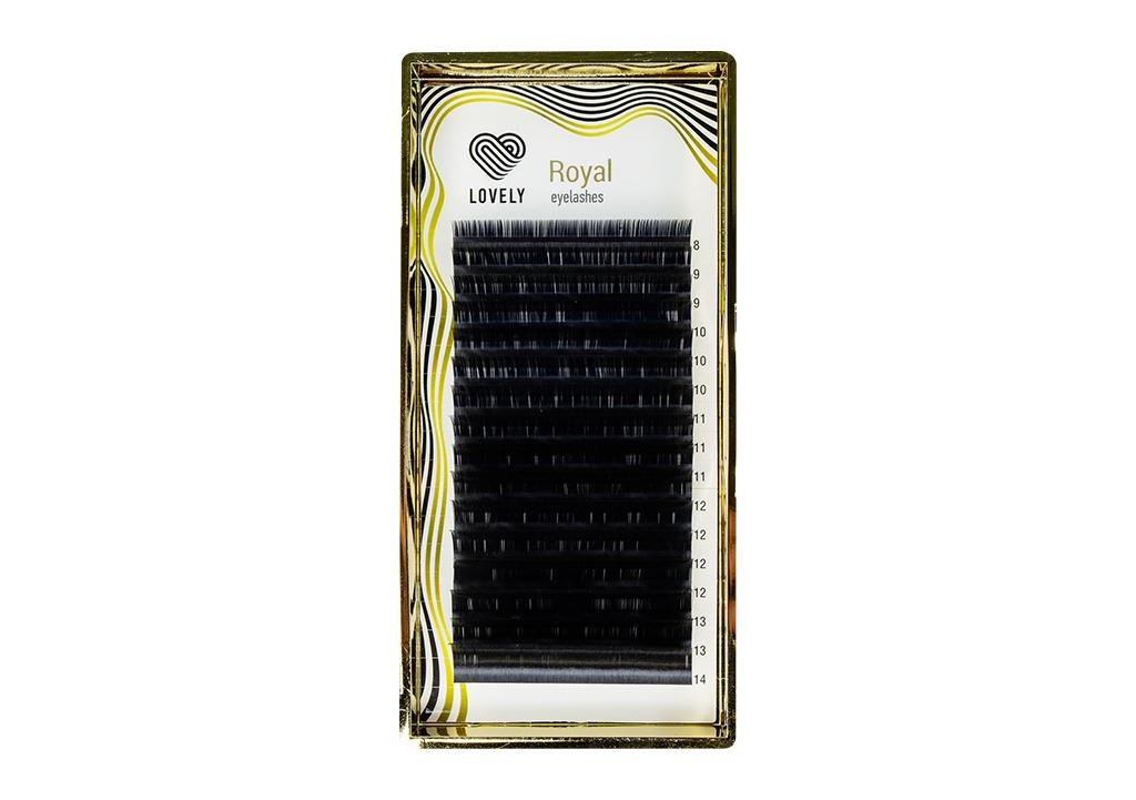 """Ресницы Lovely для наращивания серия """"Royal Lashes"""" 16 линий - MIX - изображение"""