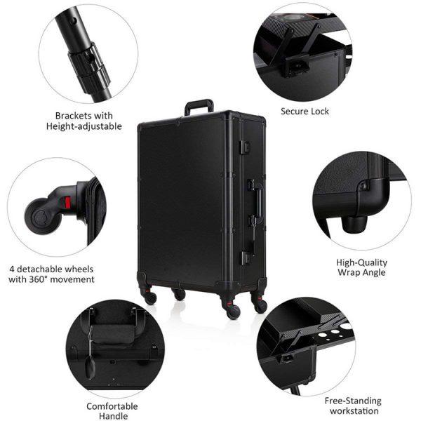 Мобильная студия визажиста черная LC 004 - изображение 4