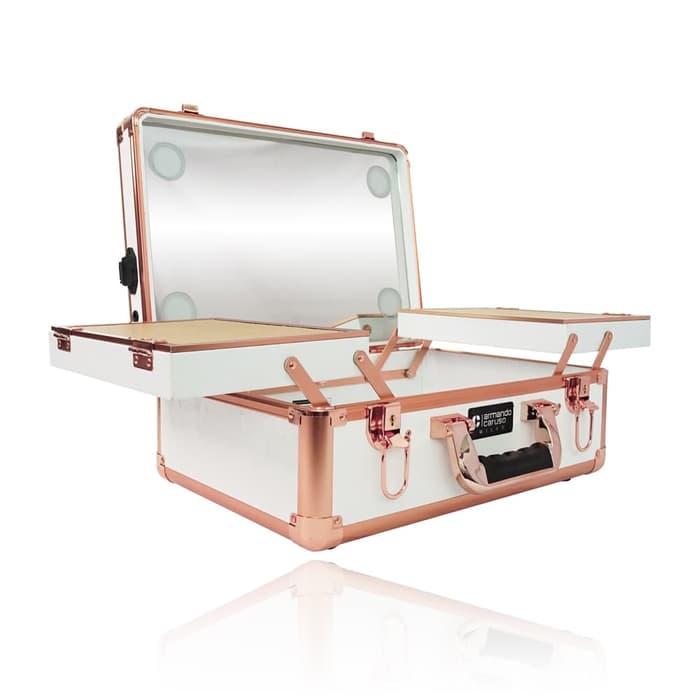 Мобильная студия визажиста без ножек LC 7019 белый с золотом - изображение