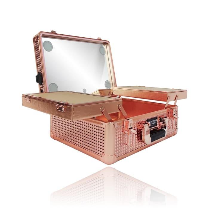 Мобильная студия визажиста без ножек LC 7019 золотой бриллиант - изображение