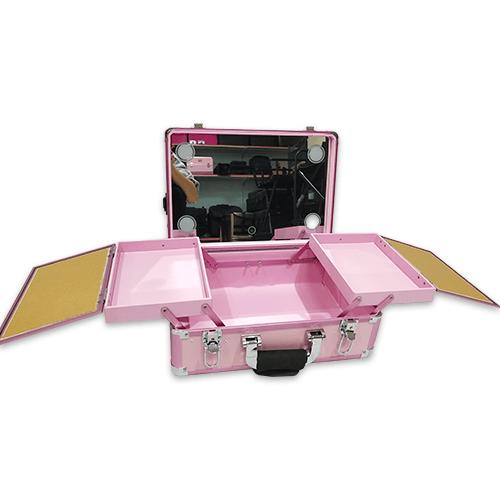 Мобильная студия визажиста без ножек LC 019 розовый - изображение