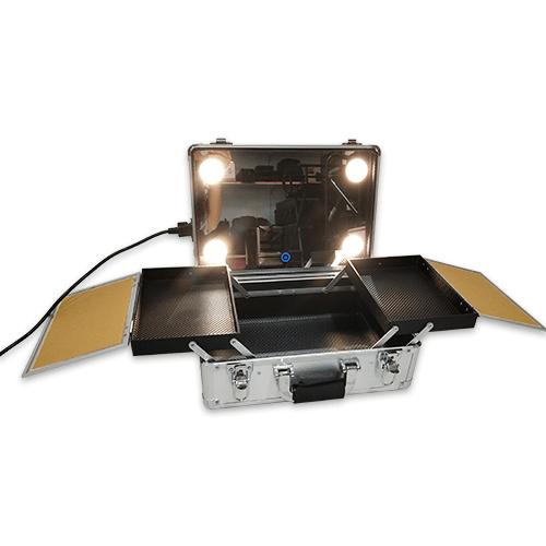 Мобильная студия визажиста без ножек LC 019 серебряный - изображение