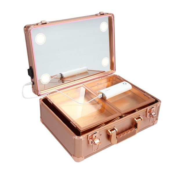 Мобильная студия визажиста без ножек LC 019 розовое золото - изображение 5
