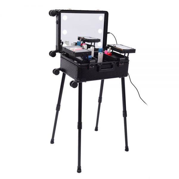 Мобильная студия визажиста чёрная Premium LC036 - изображение 4