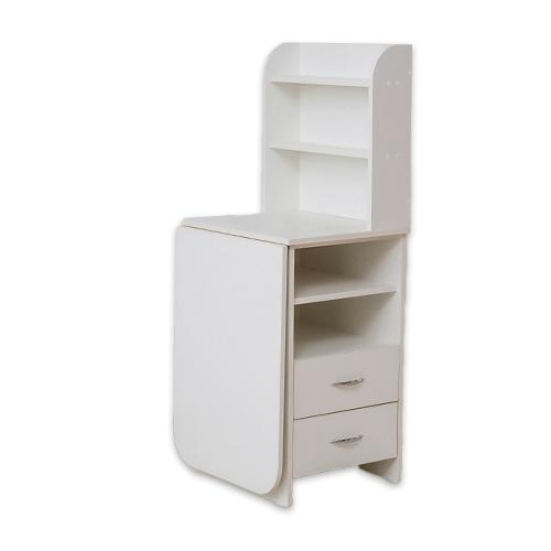 Маникюрный стол с тумбой 2 полки (белый) - изображение 4