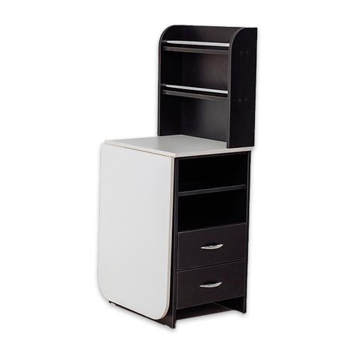 Маникюрный стол с тумбой 2 полки (черный) - изображение 4