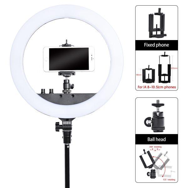 Лампа кольцевая OKIRA LED RING DAR 240 (12 дюймов) - изображение 7