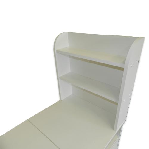 Маникюрный стол с тумбой 3 полки + полочка под аппарат (белый) - изображение 2