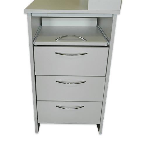 Маникюрный стол с тумбой 3 полки + полочка под аппарат (белый) - изображение 4