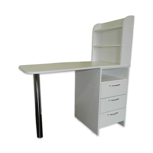 Маникюрный стол с тумбой 3 полки (белый) - изображение 3