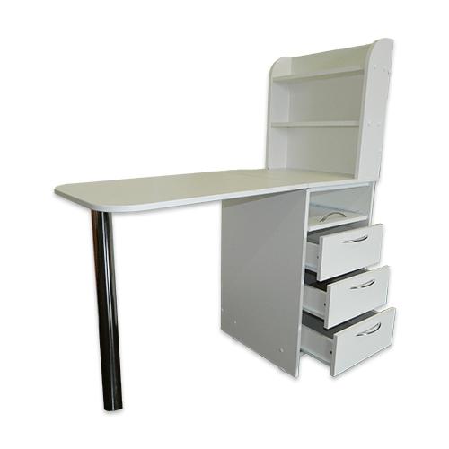 Маникюрный стол с тумбой 3 полки + полочка под аппарат (белый) - изображение 5