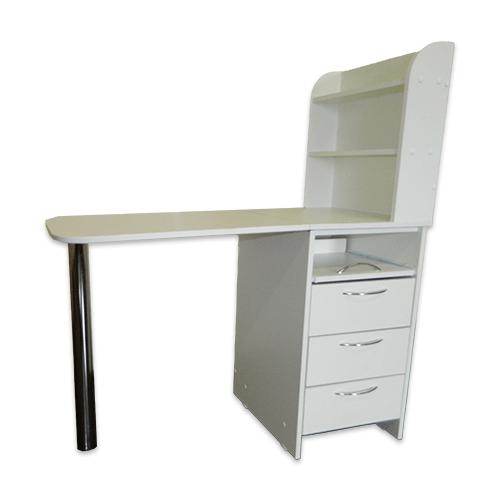 Маникюрный стол с тумбой 3 полки + полочка под аппарат (белый) - изображение 6