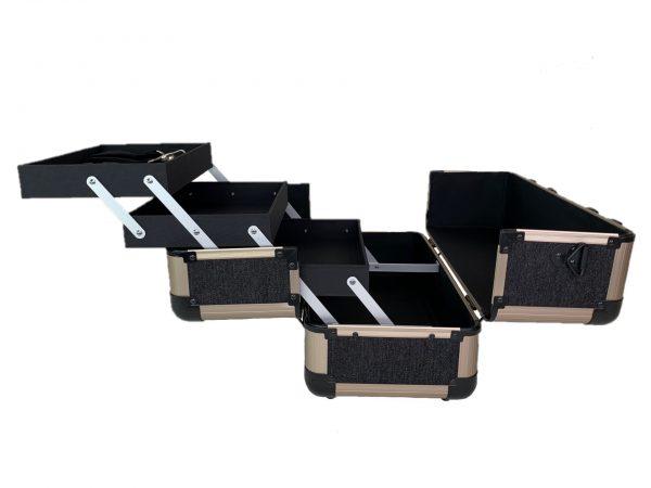 Бьюти кейс для косметики М 034 (черный) - изображение 4