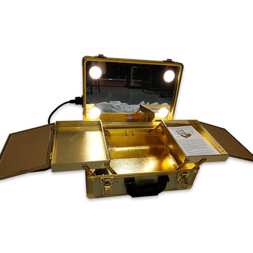 Мобильная студия визажиста без ножек LC 019 золото - изображение