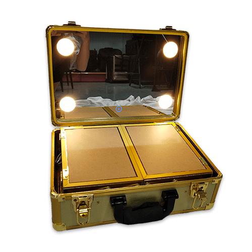 Мобильная студия визажиста без ножек LC 019 золото - изображение 2