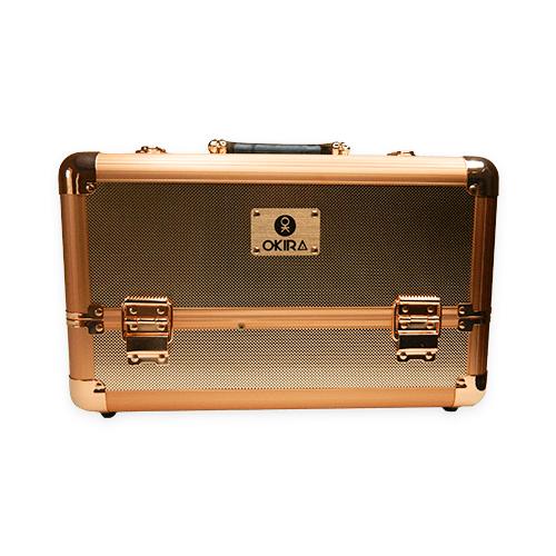 Бьюти кейс для косметики М 034 (розовое золото) - изображение