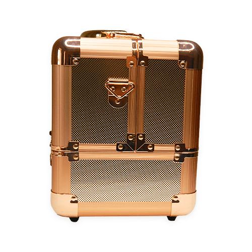 Бьюти кейс для косметики М 034 (розовое золото) - изображение 5