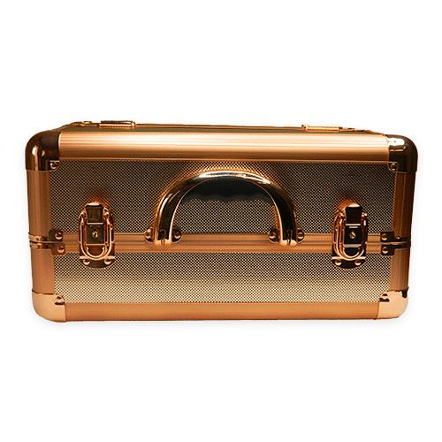 Бьюти кейс для косметики М 034 (розовое золото) - изображение 6