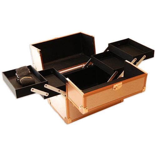 Бьюти кейс для косметики CWB 5350 розовое золото - изображение 4