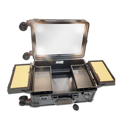 Мобильная студия визажиста черный бриллиант без ножек LC 7006 - изображение