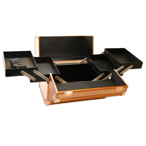 Бьюти кейс для косметики CWB 6350 розовое золото - изображение 5