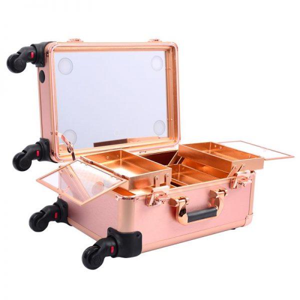 Мобильная студия визажиста розовое золото без ножек LC 7006 - изображение 1