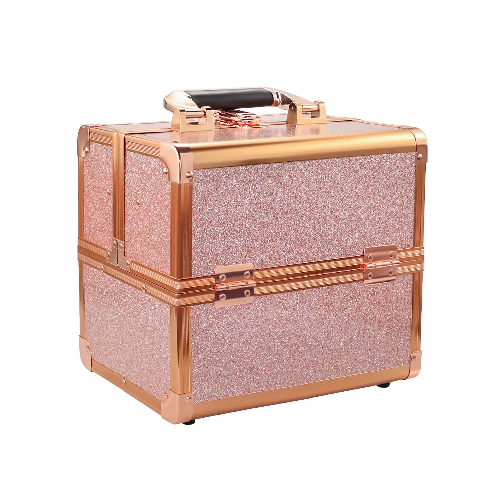 Бьюти кейс для косметики CWB 8316 розовое золото - изображение