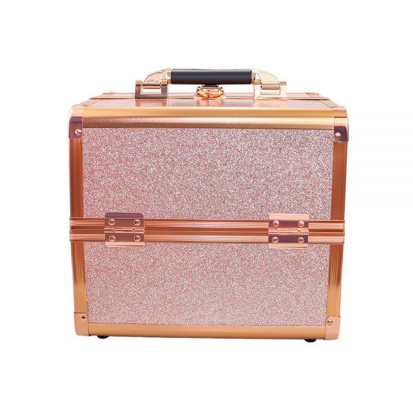 Бьюти кейс для косметики CWB 8316 розовое золото - изображение 3