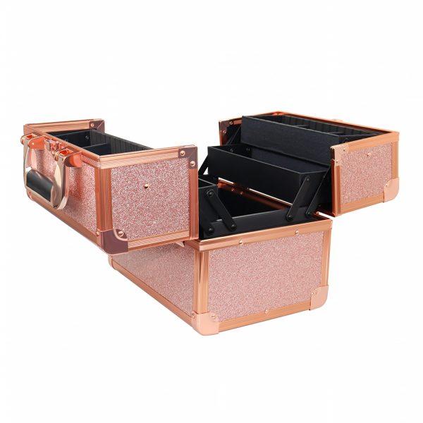 Бьюти кейс для косметики CWB 8316 розовое золото - изображение 4
