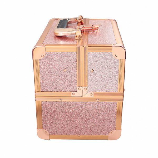 Бьюти кейс для косметики CWB 8316 розовое золото - изображение 5