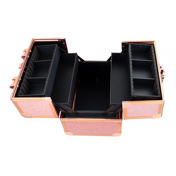 Бьюти кейс для косметики CWB 8316 розовое золото - изображение 6