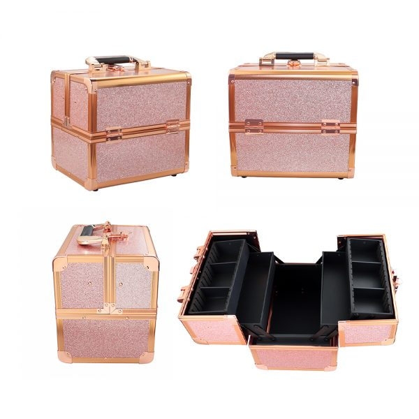 Бьюти кейс для косметики CWB 8316 розовое золото - изображение 7