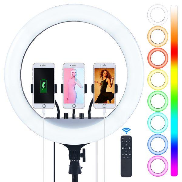 Лампа кольцевая OKIRA LED RING 480 RGB 18 - изображение 1