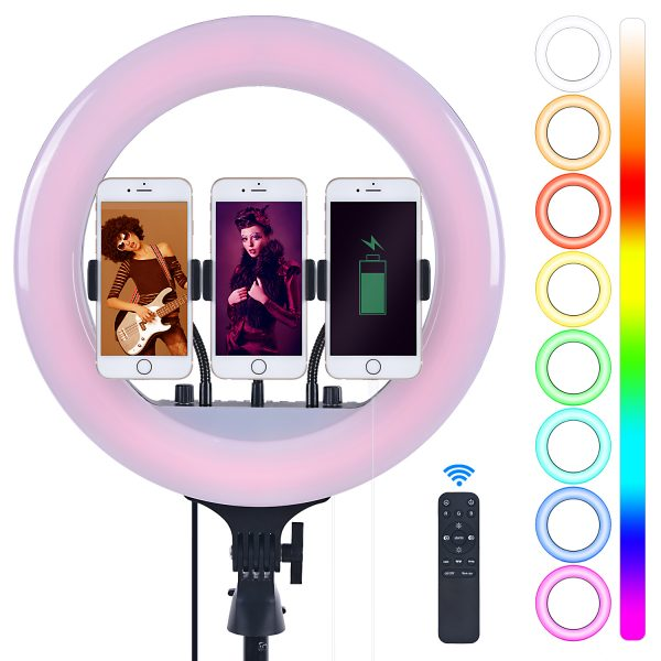 Лампа кольцевая OKIRA LED RING 300 RGB 36 - изображение 1