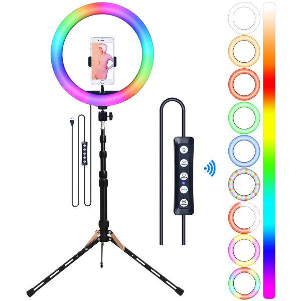 Лампа кольцевая OKIRA LED RING MJ 33 RGB - изображение 2