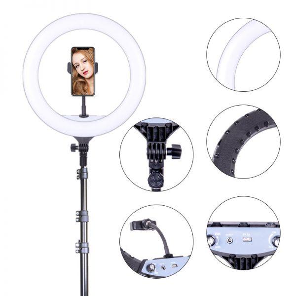 Кольцевая лампа OKIRO LED RING YQ 360 B 256 - изображение 7