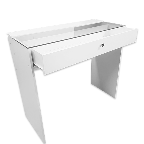 Стол гримерный 1 ящик (белый) 110 см - изображение 1