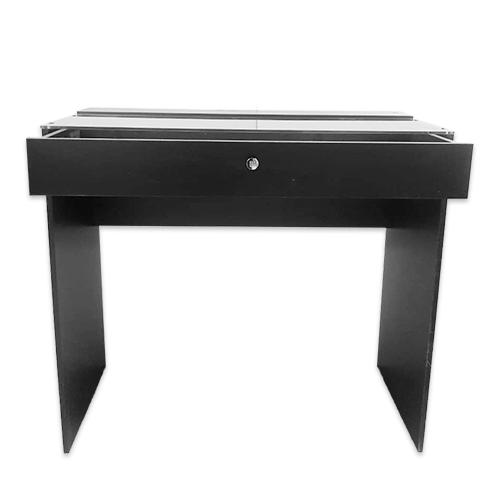 Стол гримерный 1 ящик (черный) 110 см - изображение