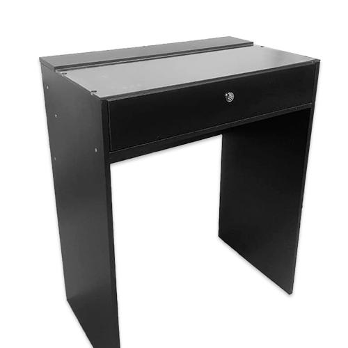 Стол гримерный 1 ящик (черный) 80 см - изображение 1