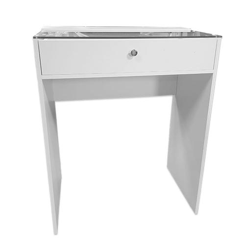 Стол гримерный 1 ящик (белый) 80 см - изображение