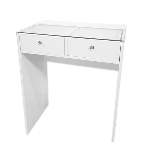 Стол гримерный 2 ящика (белый) 80 см - изображение 2