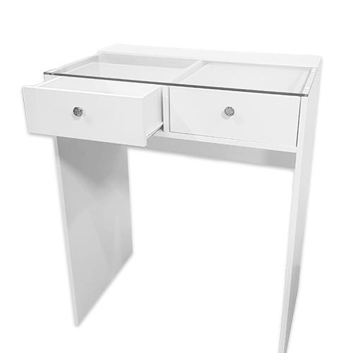 Стол гримерный 2 ящика (белый) 80 см - изображение 3