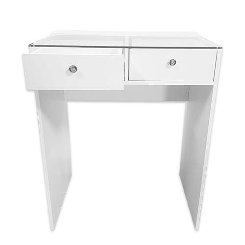 Стол гримерный 2 ящика (белый) 80 см - изображение