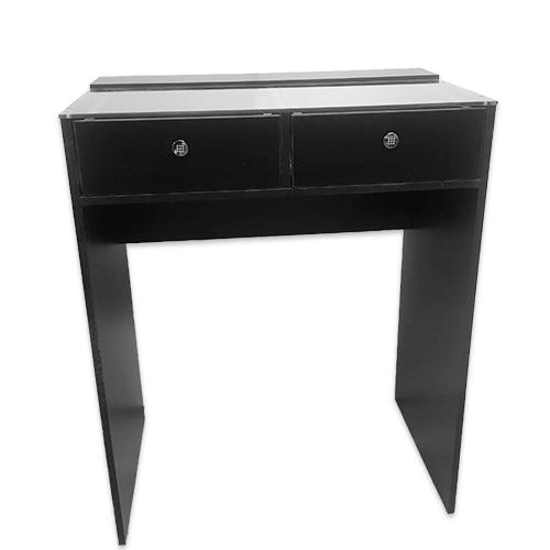 Стол гримерный 2 ящика (черный) 80 см - изображение 3