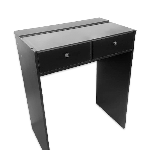 Стол гримерный 2 ящика (черный) 80 см - изображение 1