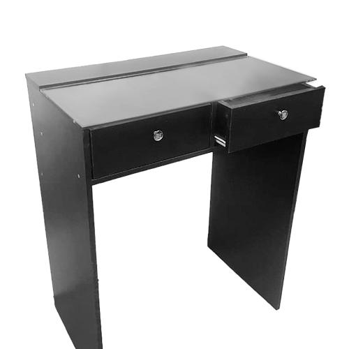 Стол гримерный 2 ящика (черный) 80 см - изображение 2