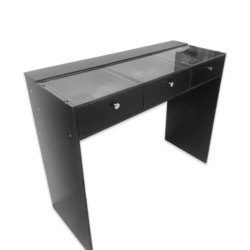 Стол гримерный 3 ящика (черный) 120 см - изображение 2