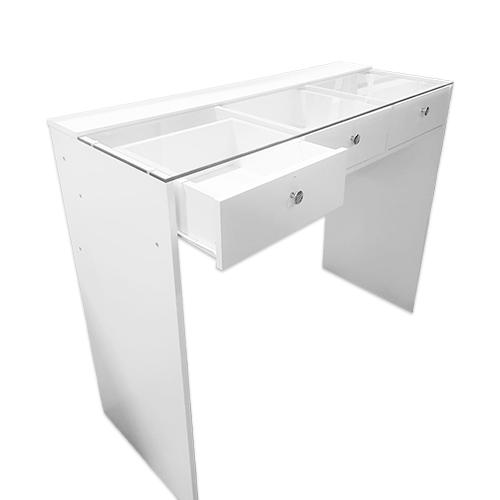 Стол гримерный 3 ящика (белый) 120 см - изображение 2