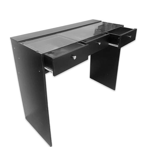 Стол гримерный 3 ящика (черный) 120 см - изображение 3